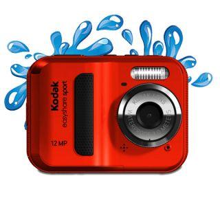Kodak EasyShare Sport C123 12 MP Waterproof Digital Camera Red