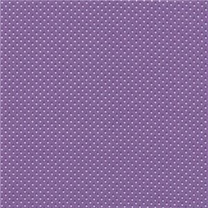 Everything but the Kitchen Sink Purple Polka Dot Calico Fabric 1930s
