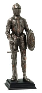New Large 12 Medieval Knight Statue Figurine Sword and Shield Model 1