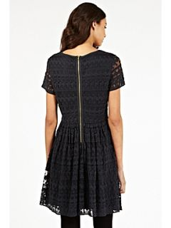 Oasis Gothic lace skater dress Dark Grey