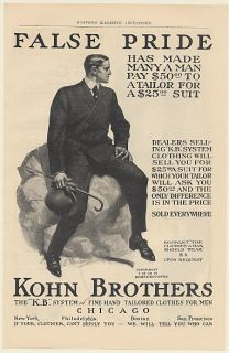 1905 Kohn Brothers Man Suit KB System Fine Hand Tailored Clothes Men