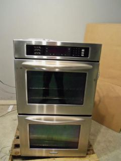 KitchenAid 30 Double Electric Convection Oven SS KEBS207SSS Scuffs on