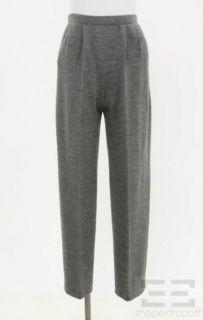 St John Signature Grey Knit Pants Size 6
