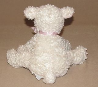 Koala Baby Cream Lamb Sheep Pink Satin Bow Plush Stuffed Small Baby