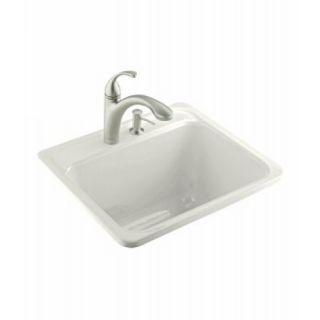 Kohler K 6663 3 0 Falls Self Rimming Utility Sink White