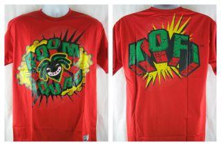 Kofi Kingston Red Boom Squad WWE T Shirt New