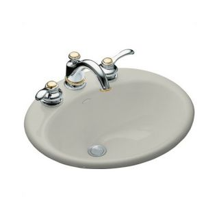 Kohler Farmington Self Rimming Bathroom Sink in Ice Grey with 8