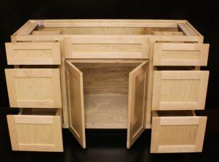 Kraftmaid Natural Maple Bathroom Vanity Sink Cabinet 54 Granite Tops