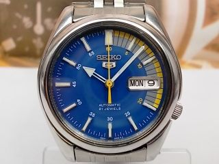 Seiko 5 Day Date Automatic Mens Watch 7S26 01V0 Blue