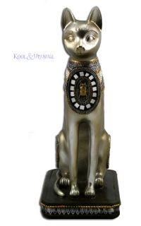 Beautiful Golden Bastet Cat Statue Egyptian Goddess Bast