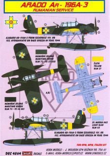 Kora Decals 1 48 Arado AR 196 Floatplane Romanian Air Force