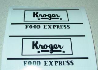 Metalcraft Kroger Van Delivery Truck Stickers MC 016