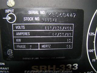 Miller DC Arc Welding Power Source 3 Phase SRH 333 KB060447