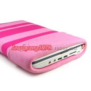 qualtiy kroo pink universal soft 100 % knit sock cotton case for 8 9
