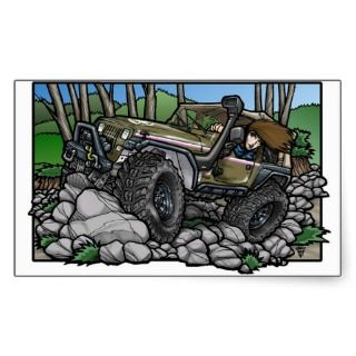 Jeep Girl Sticker