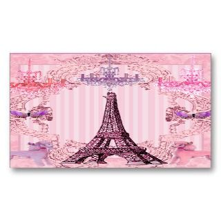 Parisian Poodles and Eiffel Tower Business Cards
