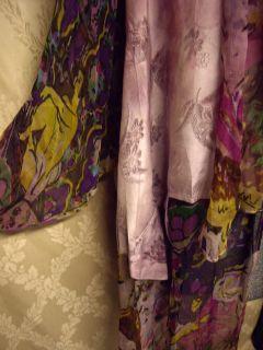 URU Kristine St Rrik Kimono Jacket Open Front Lagen One Size