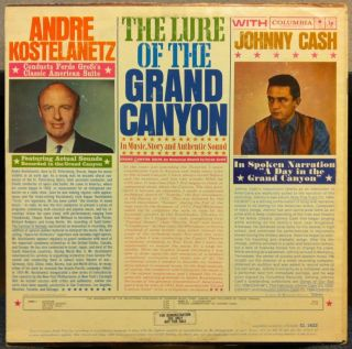 ANDRE KOSTELANETZ JOHNNY CASH lure of the grand canyon LP VG+ CL 1622