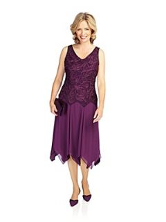 Jacques Vert Grape cornelli evening dress Dark Purple
