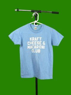 Vintage 80s Kraft Cheese Macaroni Club Screen Stars T Shirt Youth S