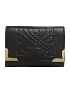 Biba Metal corner embossed logo flap over purse