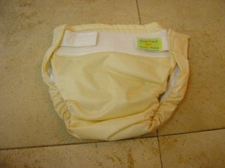 Kushies AIO Sized Infant 10 22lbs Cloth Diapers Yellow Used