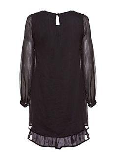 Uttam Boutique Sequin detail dress. Black