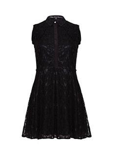 Mela Loves London Lace collared dress. Black