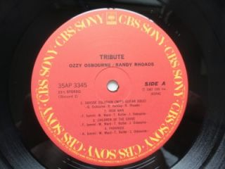 Ozzy Osbourne Randy Rhoads Tribute Japan 2LP OBI Black Sabbath