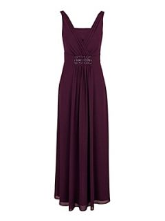 Jacques Vert Plum chiffon maxi dress Purple