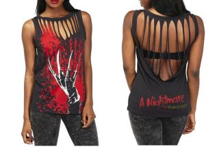 Nightmare on Elm Street Sleeveless Girls Freddy Krueger T Shirt