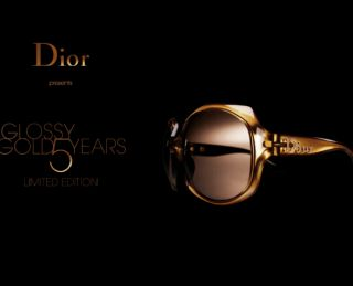CHRISTIAN DIOR GLOSSY GOLD 500 SUNGLASSES  ONLY 500  NEW, RARE