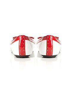 Madden Girl Meradith Mg Toe Cap Bow Ballerina Shoes Navy