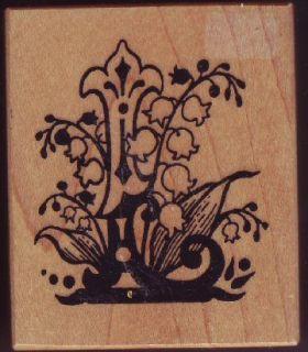PSX F 1111 Rubber Stamp Botanical Letter L Lily