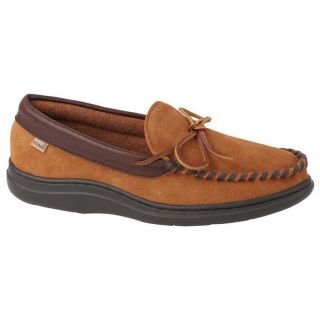 Relax in the classic L.B. Evans Atlin moccasin slipper with year round