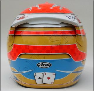 Fernando Alonso 2009 F1 Replica Helmet Scale 1 1 New