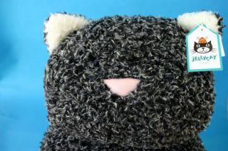 Jellycat Kush Kitty Cat Grey Large Pillow Plush Stuffed 20 inch Soft