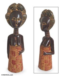 Fertility Doll Ewe Tribe Ghana Wood Carved Art Africa