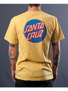 Santa Cruz Classic dot t shirt Yellow