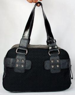 New Guess Kym Womens Black Box Satchel Shoulder Bag Handbag