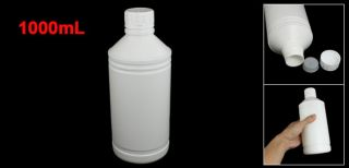 Laboratory Chemical Storage Case Clear White Plastic Bottle 1000ml