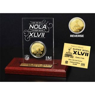 49ers vs Ravens Super Bowl 47 Dueling 24KT Gold Coin Desktop Acrylic