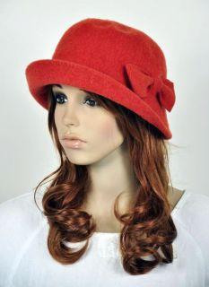 Cute Bow Winter 100% Wool Fashion Lady Womens Dress Hat Beanie 2 Way