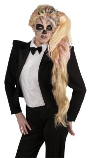 Lady Gaga Born This Way Long Side Ponytail Costume Wig Adult