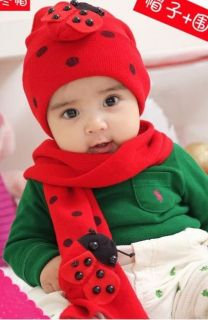 2in1 Lovely Baby Infant Bee Boys Girls Ladybug Warm Beanie Hat Cap