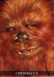Star Wars Chewbacca Le Print Sketch Card by Jeff Lafferty