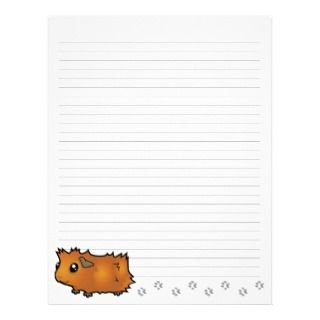 Cartoon Guinea Pig (scruffy) Custom Letterhead