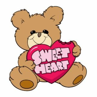 sweetheart valentine candy cute teddy bear design acrylic cut outs