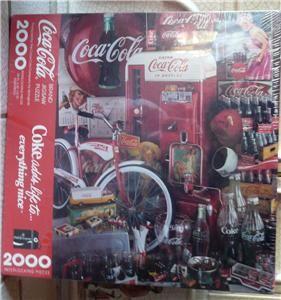 COCA COLA Coke Springbok 2000 Piece Puzzle Jigsaw Hallmark, STILL