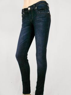Women La Idol Skinny Jeans Gold Animal Leopard Rhinestone Pockets